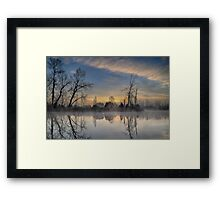 Dawn on the Snohomish Framed Print