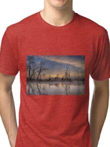 Dawn on the Snohomish Tri-blend T-Shirt