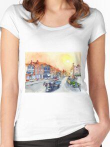 TEWKSBURY high street - Gloucester England Women's Fitted Scoop T-Shirt