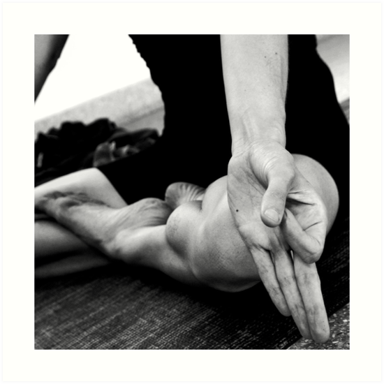 Padmasana (lotus pose) and jnana mudra by Lauren Tober