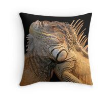 Iguana King Throw Pillow