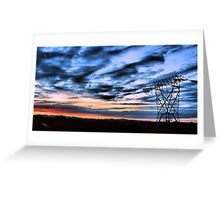 Powerline Sunset Greeting Card