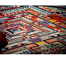 grain by grain, sand mandala. india Photographic Print