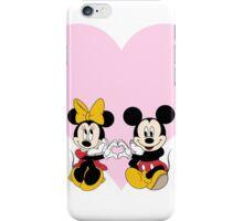 Mickey & Minnie Heart iPhone Case/Skin