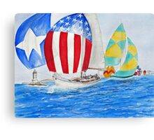 Parade of NATIONS... Spinnakers... Canvas Print