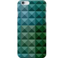 Dark Spring Green Abstract Low Polygon Background iPhone Case/Skin