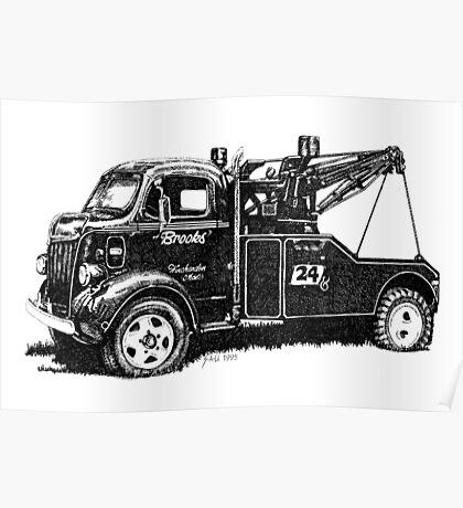 Antique Tow Truck Poster