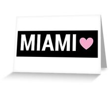 Miami Brandy Sign Greeting Card