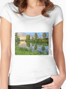 Dawn on the Snohomish Women's Fitted Scoop T-Shirt