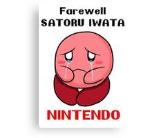 Farewell IWATA Canvas Print