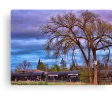 Rural Train Yard Canvas Print