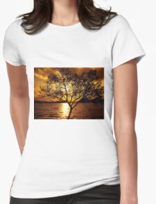 Amber Sky Womens Fitted T-Shirt