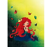 This Girl only Sleeps with Butterflies Photographic Print