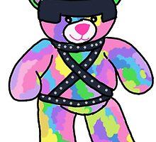 Rainbow Bondage Bear by clevernessofyou