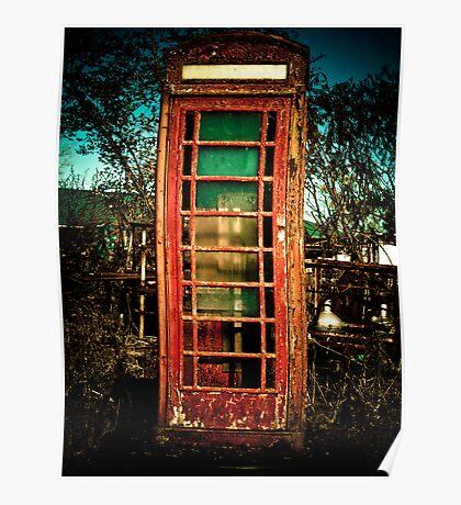 Vintage British Phone Booth Poster