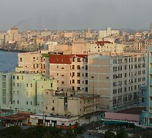 At sunset, El Malecon, Havana, Cuba by krista121