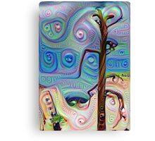 Tree In The Desert Canvas Print