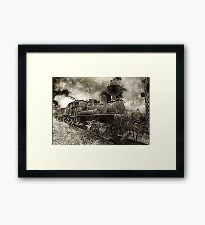 Rusty Loco Framed Print