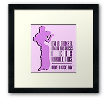 Damsel in Distress (Megara) Framed Print