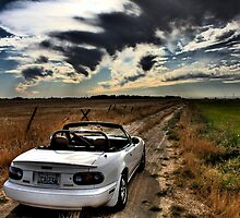 Miata on dirt road HDR by calgecko