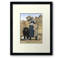Stone Giant, part of the Giants series Framed Print