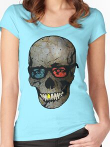 Life Seems Much More Exciting For Skullboy Since He Got A New Pair Of Glasses Women's Fitted Scoop T-Shirt