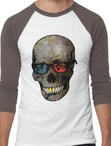 Life Seems Much More Exciting For Skullboy Since He Got A New Pair Of Glasses Men's Baseball ¾ T-Shirt