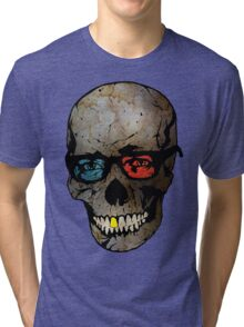 Life Seems Much More Exciting For Skullboy Since He Got A New Pair Of Glasses Tri-blend T-Shirt