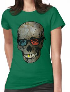 Life Seems Much More Exciting For Skullboy Since He Got A New Pair Of Glasses Womens Fitted T-Shirt