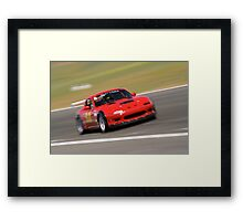 Mazda Miata at the racetrack Framed Print