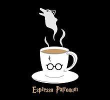 Espresso Patronum - Wolf by nativefoxart