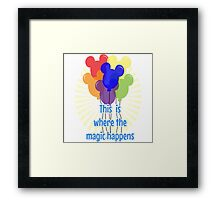 This is where the magic happens! Framed Print
