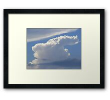 The Art Of Cloud Shapes Framed Print