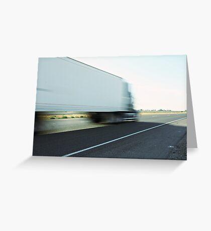Semi truck speeding  Greeting Card