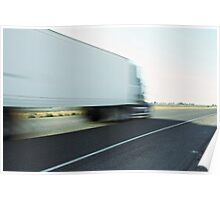 Semi truck speeding  Poster