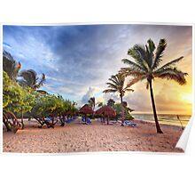 Beach Dawn Poster