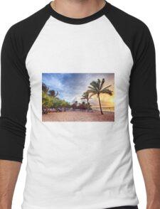 Beach Dawn Men's Baseball ¾ T-Shirt