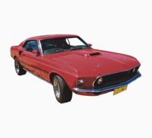 Red Mach 1 Ford Mustang Kids Clothes