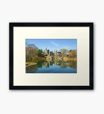 Belvedere Castle and Turtle Pond Framed Print