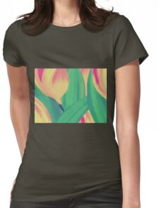 In the Garden of Tulips Womens Fitted T-Shirt