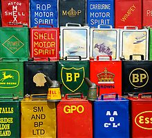 Old Oil Cans by Steve Woods