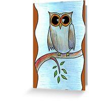 Simply Owl Greeting Card