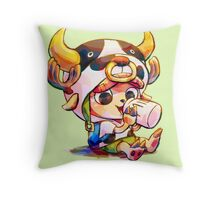 Cow Costume Chopper Throw Pillow