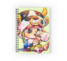Cow Costume Chopper Spiral Notebook