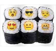 Emoji Sushi Poster
