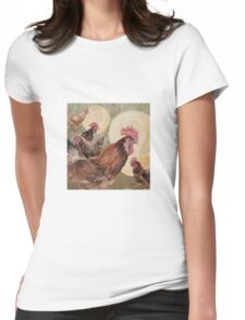 Holy chickens Womens Fitted T-Shirt