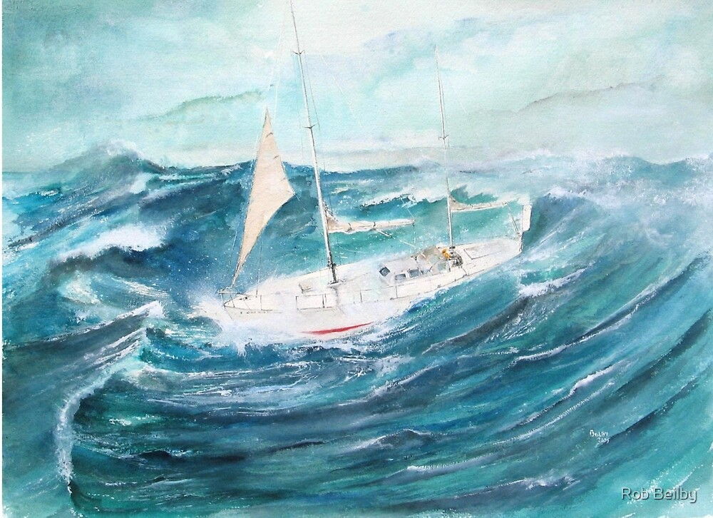 Gypsy Moth 1V - Rounding Cape Horn in a gale... by Rob Beilby