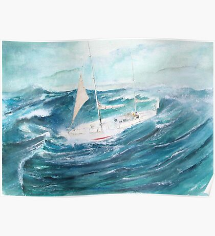 Gypsy Moth 1V - Rounding Cape Horn in a gale... Poster
