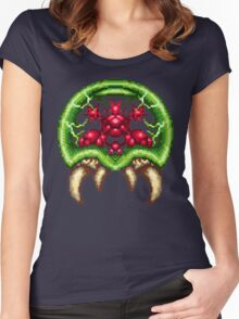 Super Metroid - Giant Metroid Women's Fitted Scoop T-Shirt