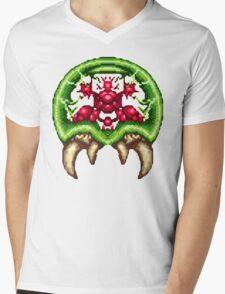 Super Metroid - Giant Metroid Mens V-Neck T-Shirt